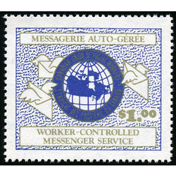 canada stamp semi official n01 darnell worker controlled messenger service 1 1975