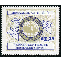 canada stamp semi official n02 darnell worker controlled messenger service 1 25 1975