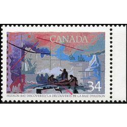 canada stamp 1107ii henry hudson 34 1986