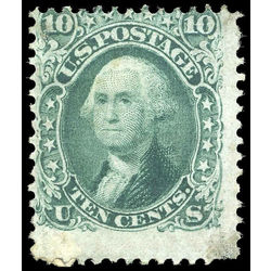 us stamp postage issues 68 washington 10 1861 m 001