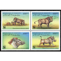 djibouti stamp 795 world wildlife fund 2000