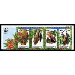 fiji stamp 797 800 world wildlife fund 1997