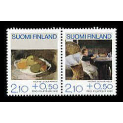 finland stamp b244 paintings 1991