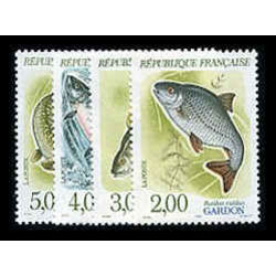 france stamp 2227 30 fishes 1990