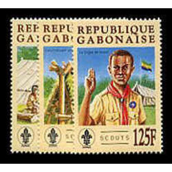 gabon stamp 822 4 scouts 1996
