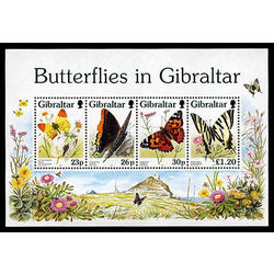 gibraltar stamp 731a butterfly 1997