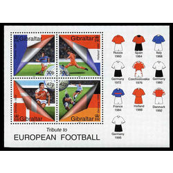 gibraltar stamp 835a tribute to football 2000