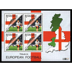 gibraltar stamp 836a tribute to football 2000