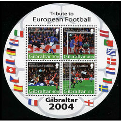gibraltar stamp 0974a tribute to football 2004