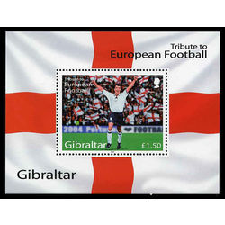 gibraltar stamp 975 tribute to football 2004