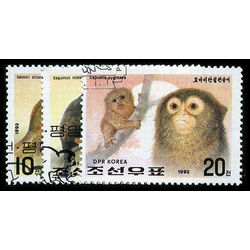 korea north stamp 3052 54 monkeys 1992