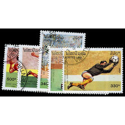 laos stamp 1032 6 1994 soccer world cup 1991