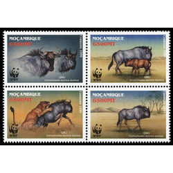 mozambique stamp 1377 world wildlife fund 2000