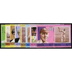 nevis stamp 383 90 cricket players and team 1984
