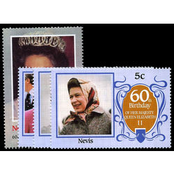 nevis stamp 472 5 queen mother 1986