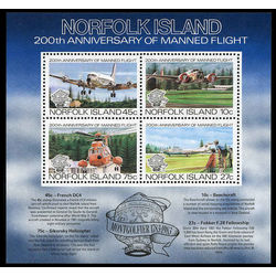 norfolk island stamp 313a manned flight bicentenary 1983