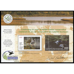 Canadian wildlife habitat conservation stamp fwh26 lesser scaups and mallard pair 25 2009