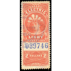 canada revenue stamp fe14a electric light effigy 2 1900