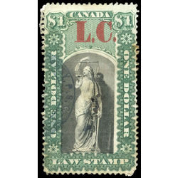 canada revenue stamp ql10 law stamps 1 1864