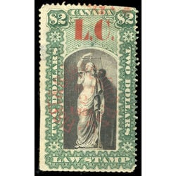 canada revenue stamp ql11 law stamps 2 1864