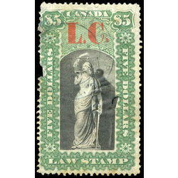 canada revenue stamp ql14 law stamps 5 1864