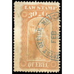 canada revenue stamp ql17 law stamps 30 1871