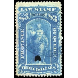 canada revenue stamp ql26 law stamps 3 1871