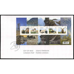 canada stamp 2709 baby wildlife definitives souvenir sheet 7 35 2014 FDC 001