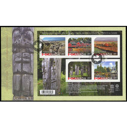 canada stamp 2739 unesco world heritage sites in canada 8 60 2014 FDC 001