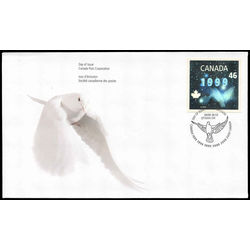 canada stamp 1812 dove hologram 46 1999 FDC 001