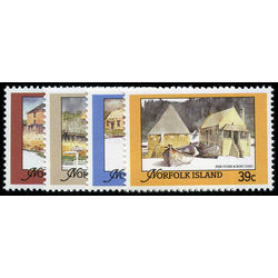 norfolk island stamp 444 7 architecture 1825 1850 1988