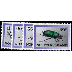 norfolk island stamp 448 51 indigenous insects 1989