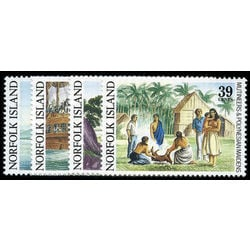 norfolk island stamp 452 5 mutiny on the bounty 1989