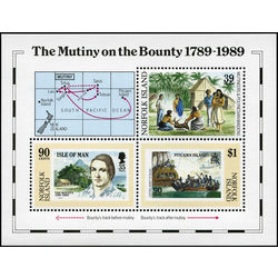 norfolk island stamp 456 mutiny on the bounty 1989