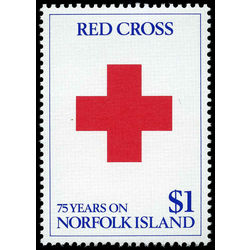 norfolk island stamp 461 red cross 1989