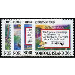 norfolk island stamp 462 5 christmas 1989