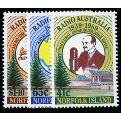 norfolk island stamp 466 8 50th anniv radio australia 1989