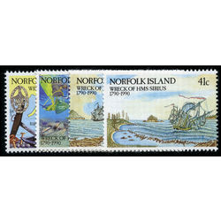 norfolk island stamp 471 4 salvage team at work 1990
