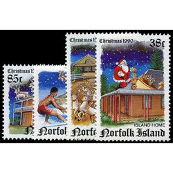 norfolk island stamp 491 4 christmas 1990