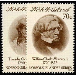 norfolk island stamp 495 6 politician 1990