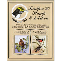 norfolk island stamp 500 birds robin 1990