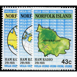 norfolk island stamp 501 3 ham radio 1991