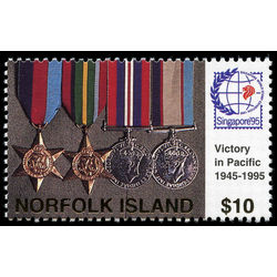 norfolk island stamp 591 victory in the pacific day 10 0 1995