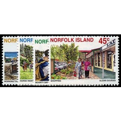 norfolk island stamp 606 9 tourism 1996
