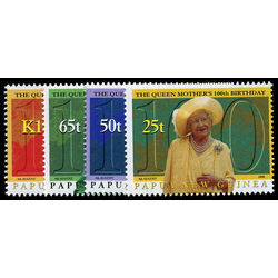papouasie nouvelle guinee stamp 980 3 queen mother s birthday 2000
