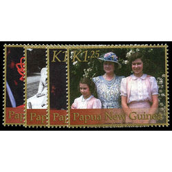 papouasie nouvelle guinee stamp 1019 22 queen elizabeth 2002