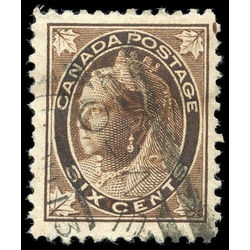 canada stamp 71 queen victoria 6 1897 U VF 003