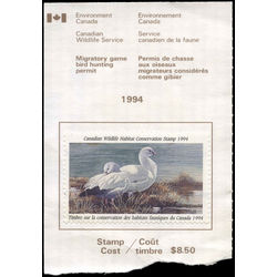 canadian wildlife habitat conservation stamp fwh10a ross geese 8 50 1994