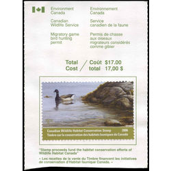 canadian wildlife habitat conservation stamp fwh22a brant goose 8 50 2006