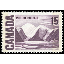 canada stamp 463pvii bylot island by lawren harris 15 1967